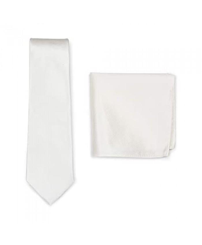 Bows-N-Ties Men's Wedding Tie Set Formal Necktie and Matching Pocket Square