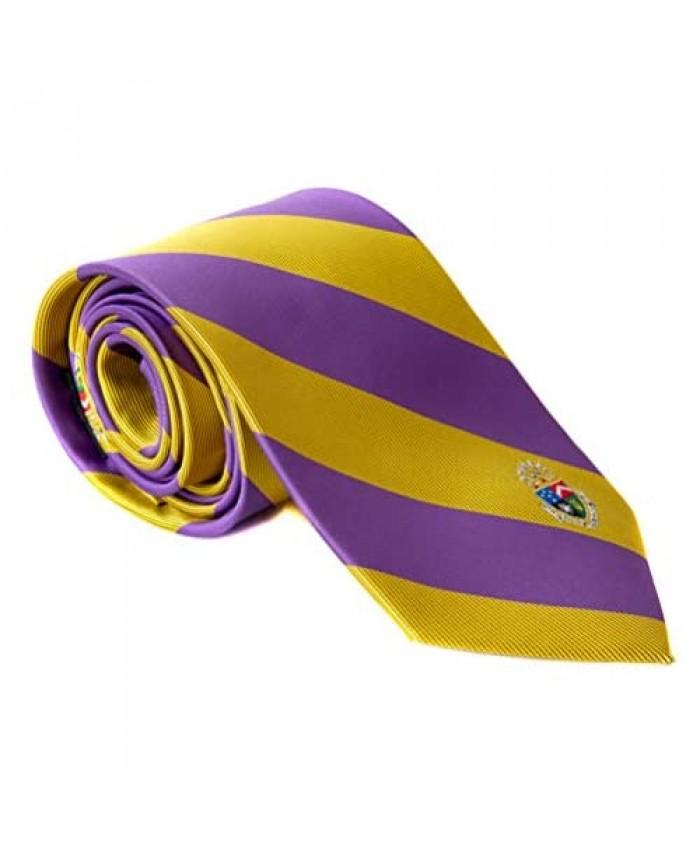 Delta Tau Delta Fraternity Necktie Tie Greek Formal Occasion Standard Length Width Delts (Striped Crest Necktie)