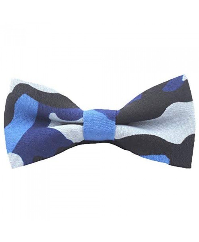 Flairs New York Gentleman's Chambray Neck Bow Tie & Pocket Square Matching Set