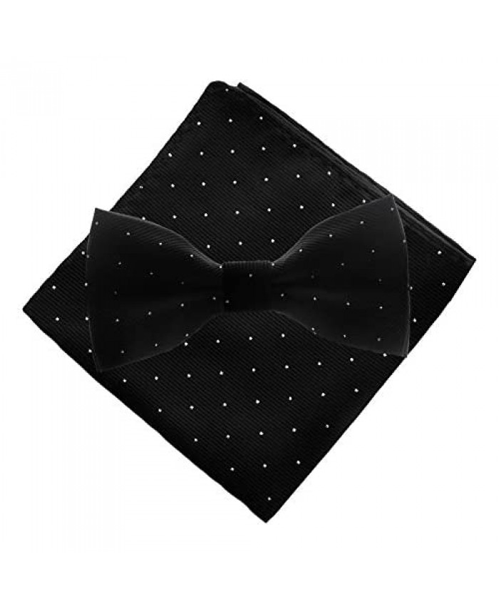 Man of Men - Bow Tie and Pocket Square Set - Small Dots
