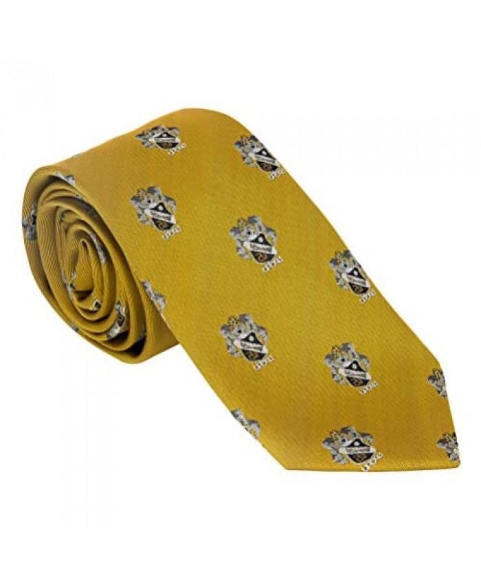 Sigma Nu Fraternity Necktie Tie Greek Formal Occasion Standard Length Width Sig Nu (Repeating Crest Necktie)