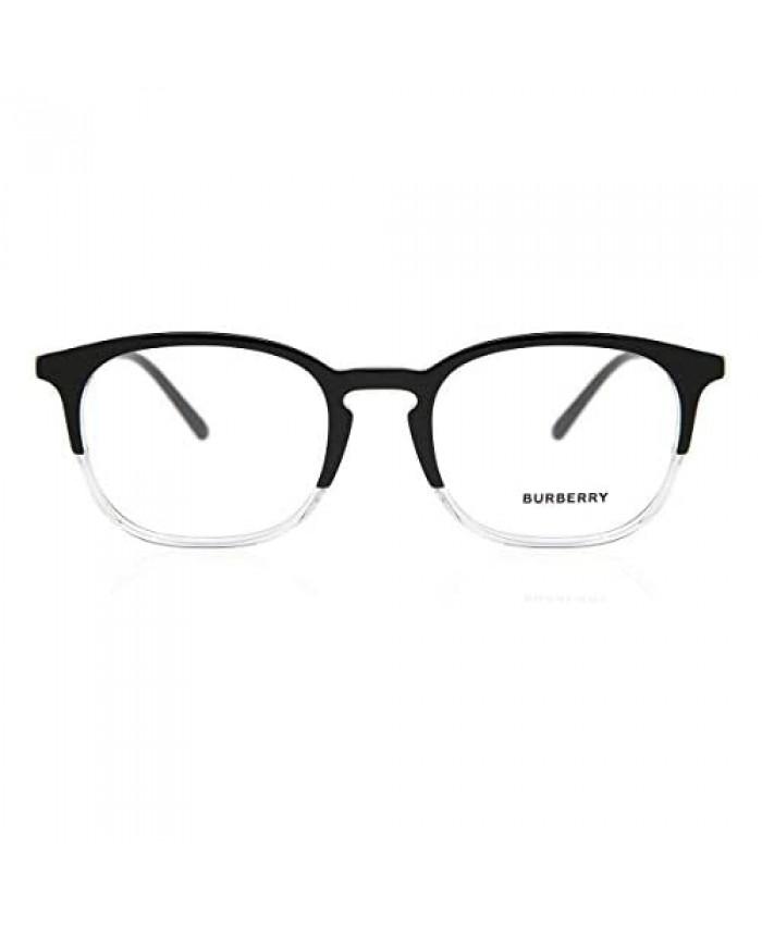 Burberry Men's BE2272 Eyeglasses Top Black On Crystal 53mm