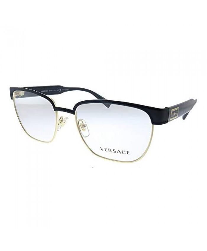 Versace VE 1264 1436_5 Matte Black Gold Metal Oval Eyeglasses 54mm