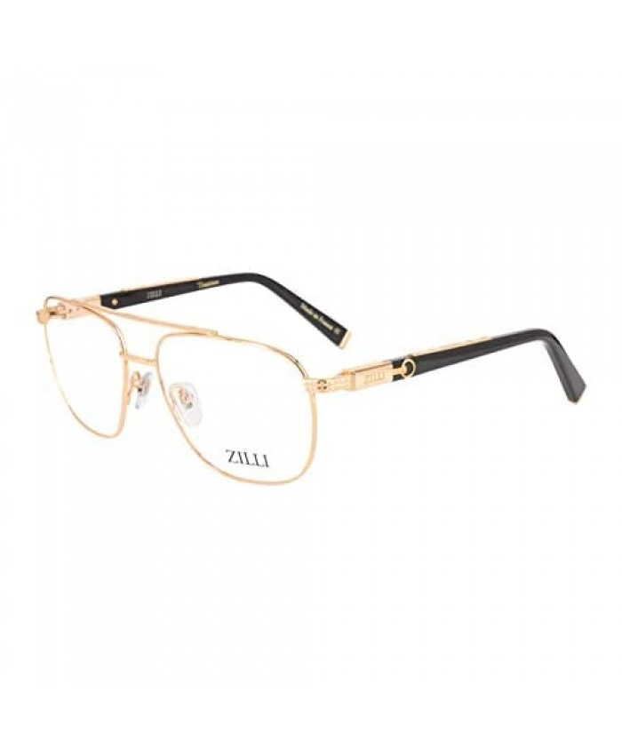 ZILLI 60022 Eyeglasses for Men Aviator Titanium Eyewear Acetate Frame