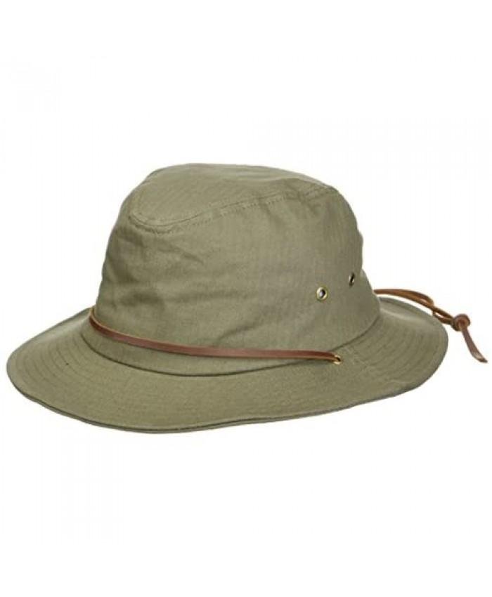 Brixton Men's Penn Quilted Short Brim Waxed Cotton Fedora Hat