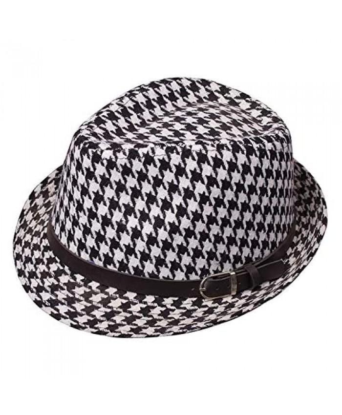 Clecibor Leopard Print Fedora Soft Outdoor Hat Cap Men Women Jazz Hat
