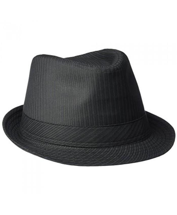 Henschel Men's Poly/Cotton Stripe Stingy Brim Fedora
