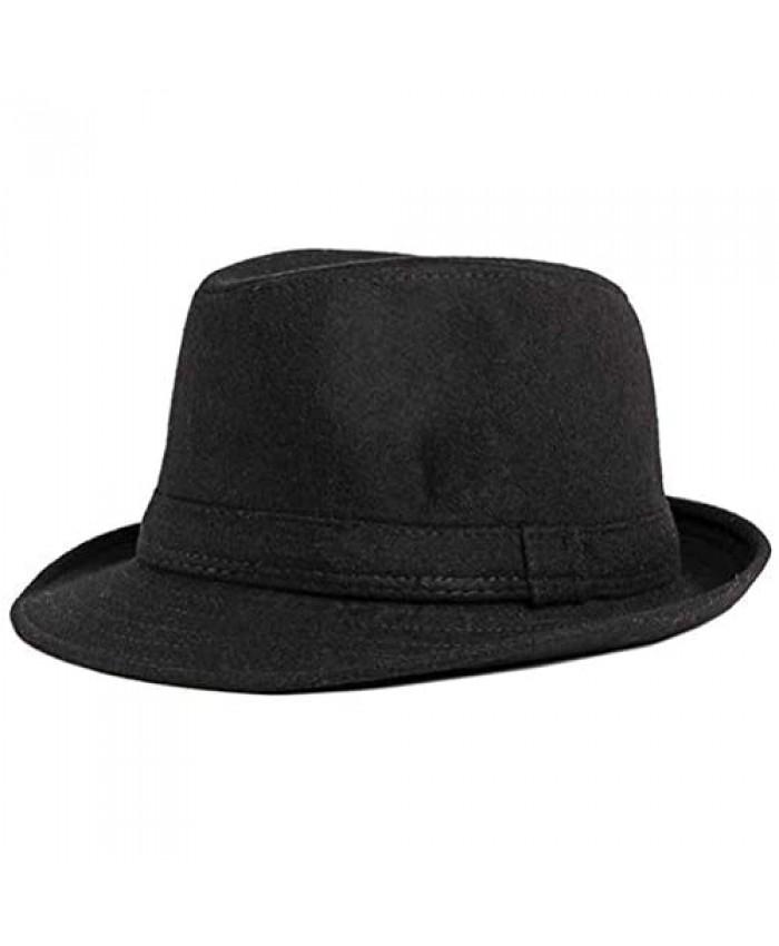 Men Women Classic Manhattan Structured Trilby Fedora Hat