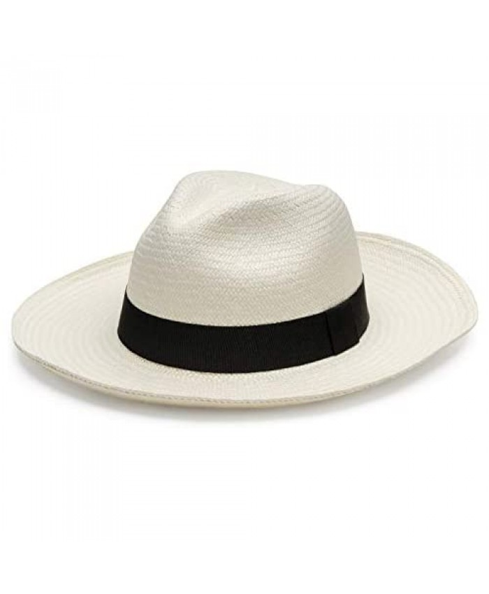 QISU Authentic Panama Hat for Men and Women Hand-Woven Craftsmanship Wide Brim with Breathable Comfort Classic Summer Wear