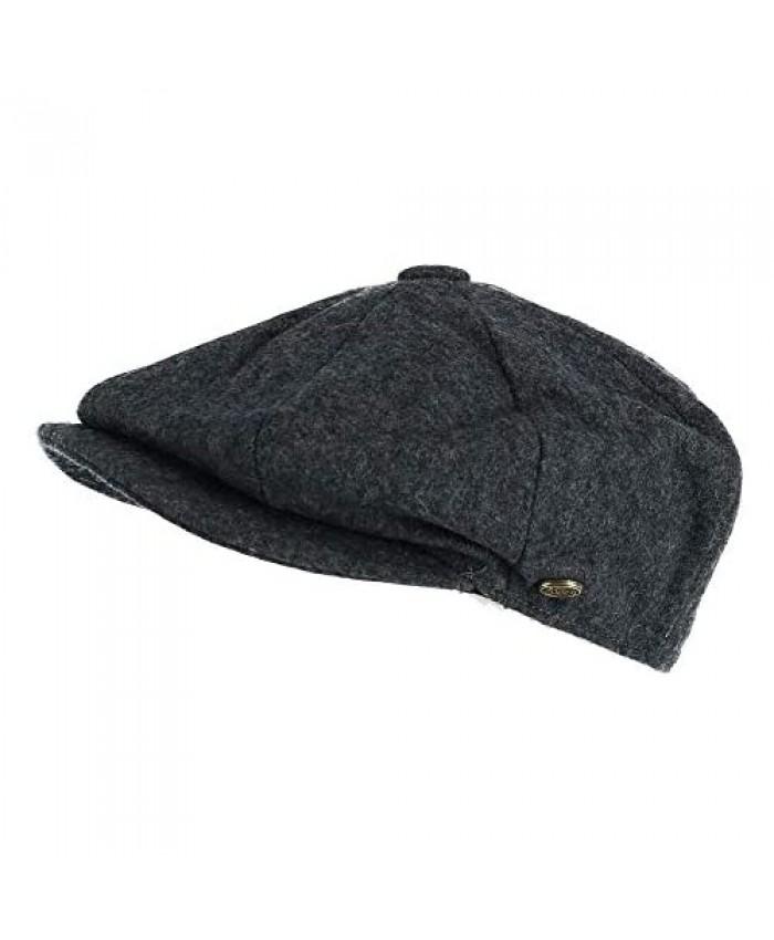 Epoch Hats Company Men's Melton Wool 8 Quarter Newsboy Cap