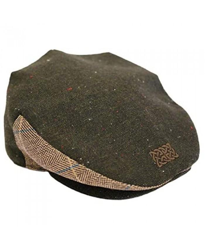 Patrick Francis Green Tweed Celtic Knot Flat Cap