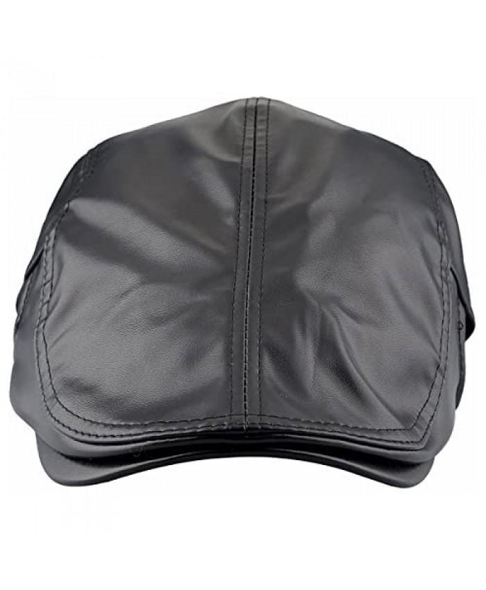 squaregarden Flat Caps for Men Beret Leather Hat Cabbie Gatsby Newsboy Cap Ivy Irish Hats