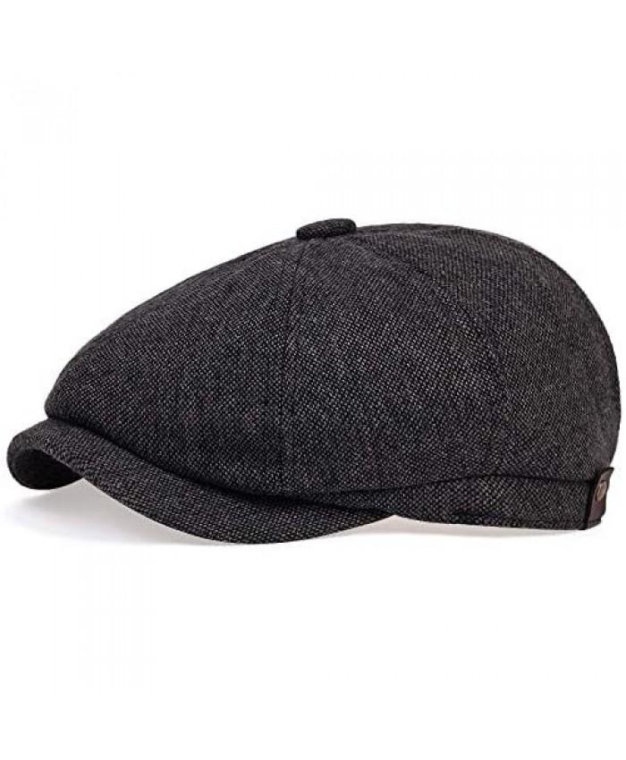 VORON Newsboy Caps Cotton Flat Hats for Men Lvy Cap Golf Adjustable Driving hat…