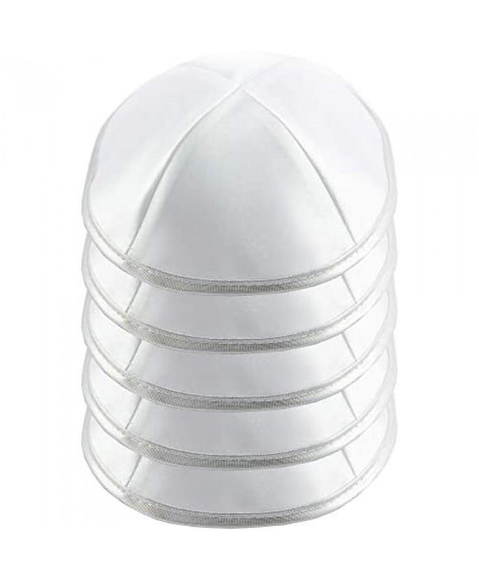 HolYudaica Pack of 5-Pcs - Hq 19/20CM Satin Kippah for Men & Boys Yamaka Hat from Israel - Kippot Bulk