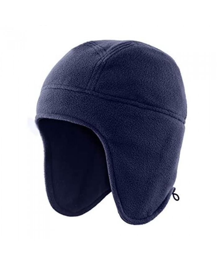 Home Prefer Mens Womens Warm Fleece Beanie Earflap Winter Hat Outdoor Skull Caps