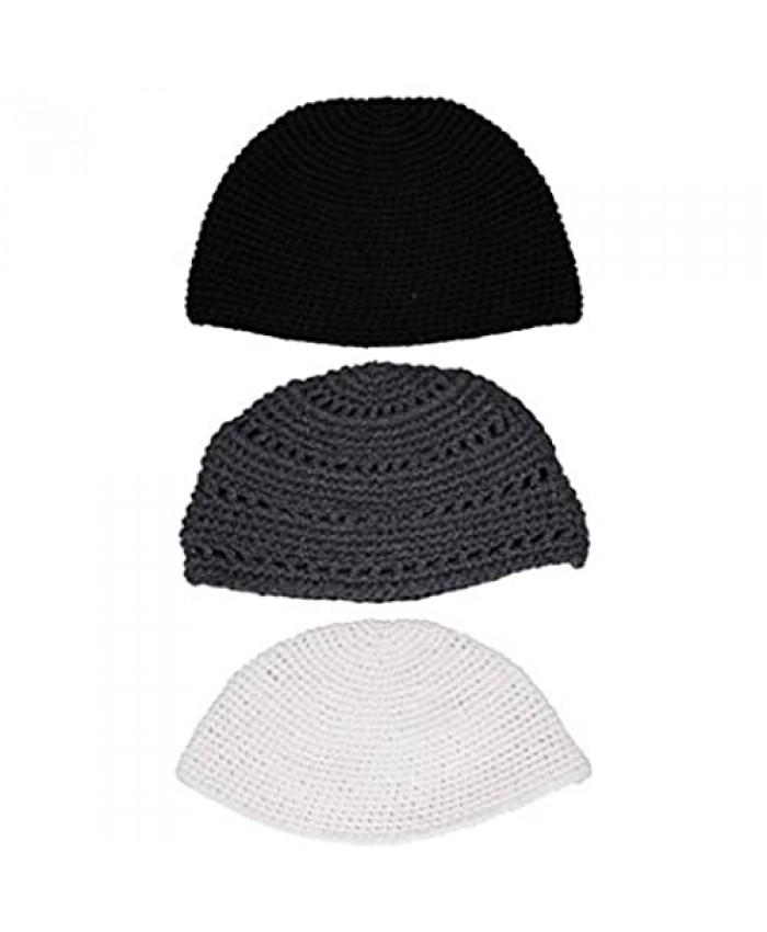 KIPPIK Frik Set Lot Kippah Hat for Men & Kids –Beautifully Breathable Comfy Soft Yamaka Kippa –for Celebrating (3 Classic Frik)