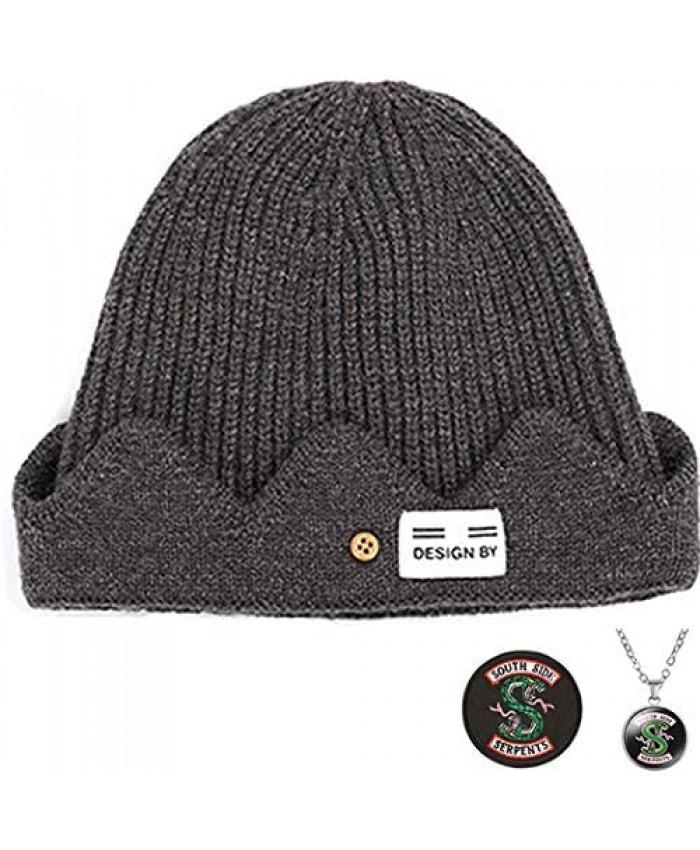 Letswin Riverdale Merchandise Jughead Jones Hat TV Movie Adult Costume Cosplay Beanie Hat - Winter Knitted Hat for Men Women -Brown