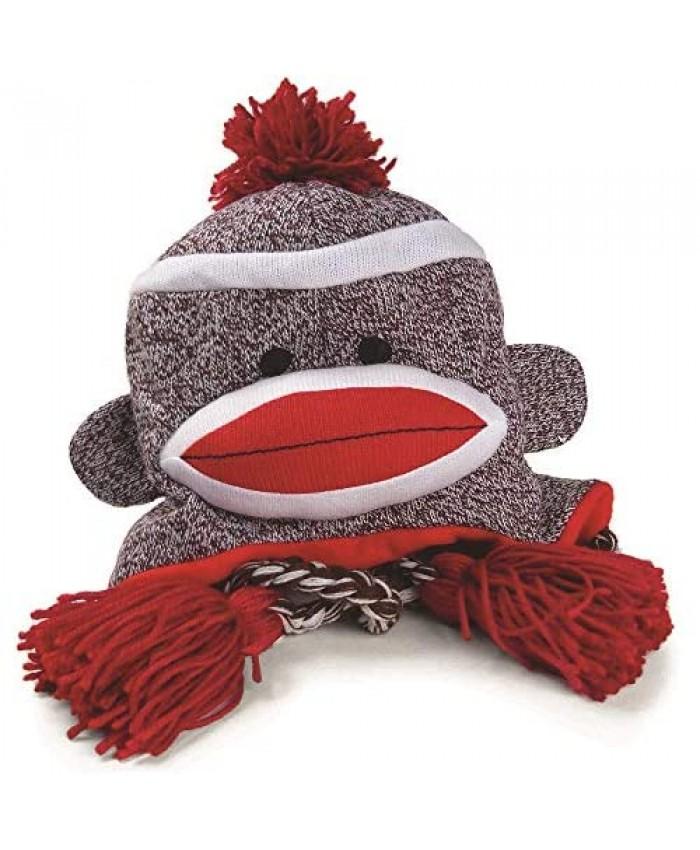 Pennington Bear Company The Original Sock Monkey Hat Knit Plush Material Adult Size (Gray)