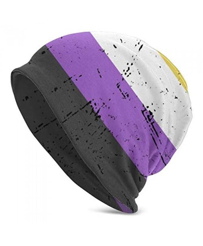 YISHOW Unisex Fashion Flag Beanie Baggy Hat Slouchy Skull Beanie for Men Women