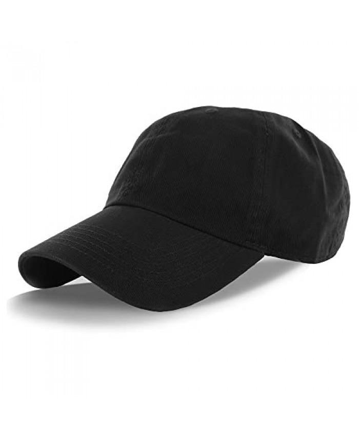 DS Plain 100% Cotton Adjustable Baseball Cap