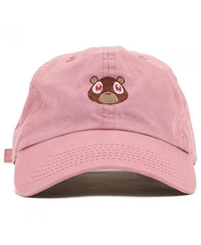 FGSS Mens Bear Print Adjustable Cotton Strapback Dad Hat Baseball Cap
