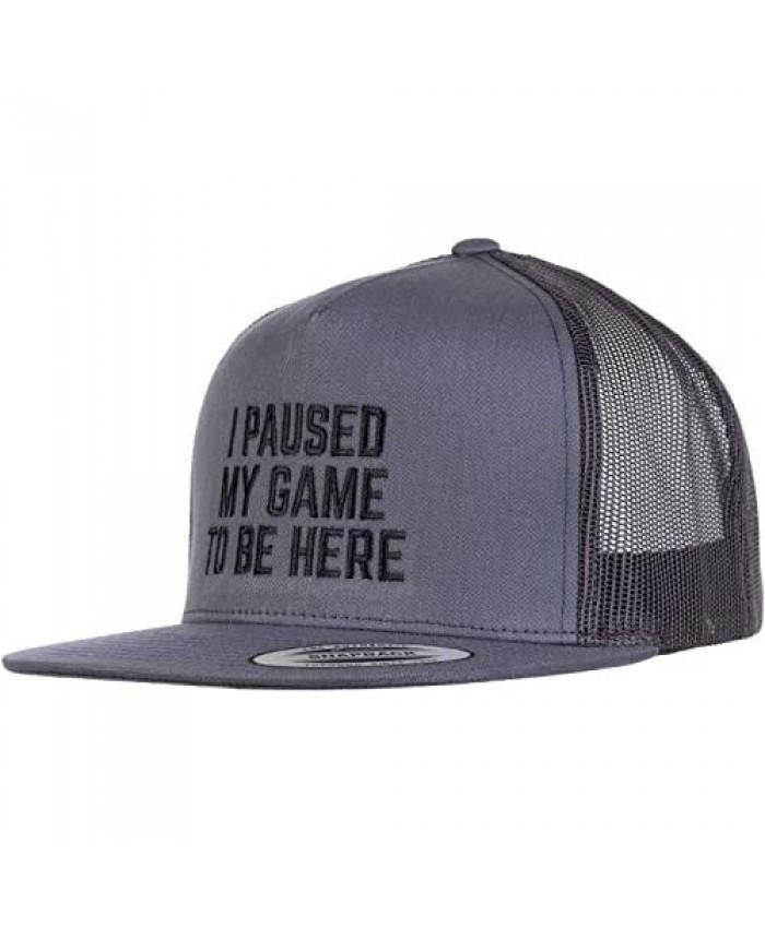 I Paused My Game to Be Here | Funny Video Gamer Humor Joke for Men Women Hat Cap