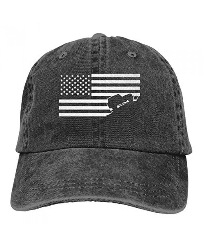 Negi Venezuela Half America Flag Men Women Adjustable Dad Hat Baseball Cap