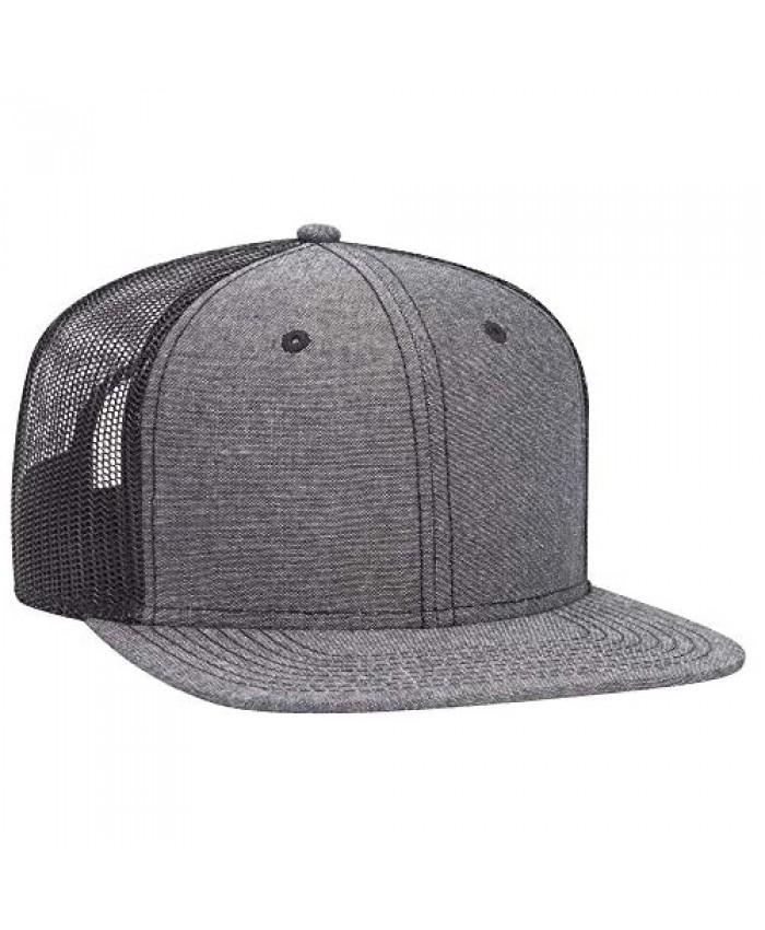 Otto Snap 6 Panel Pro Style Cotton Blend Chambray Snapback Hat