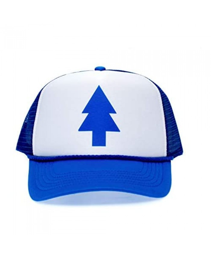 Posse Comitatus Dippers Blue Pine Tree Unisex-Adult Trucker Hat -One-Size Royal/White
