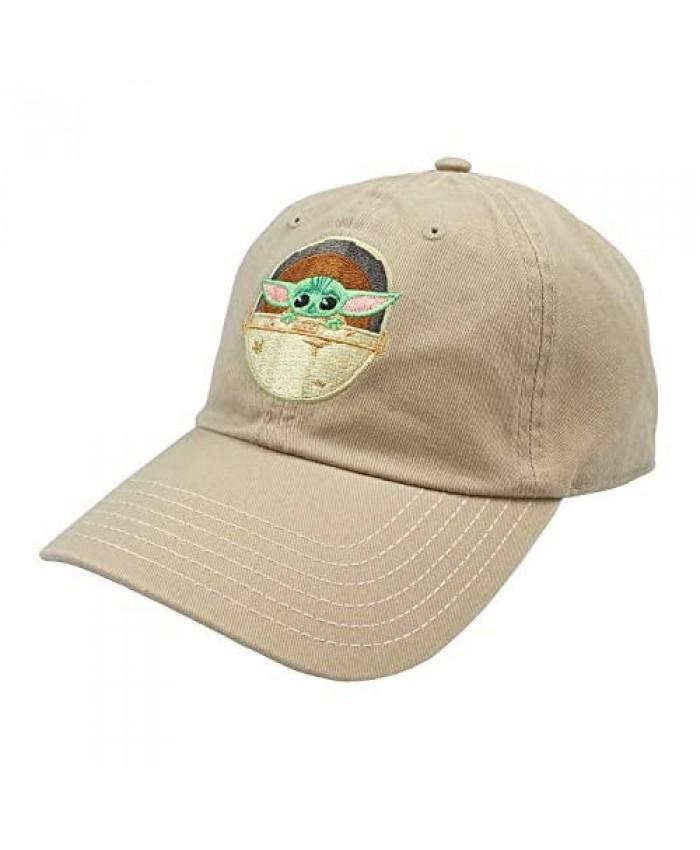 Star Wars The Mandalorian The Child Dad Hat Adjustable OSFM Cap Khaki