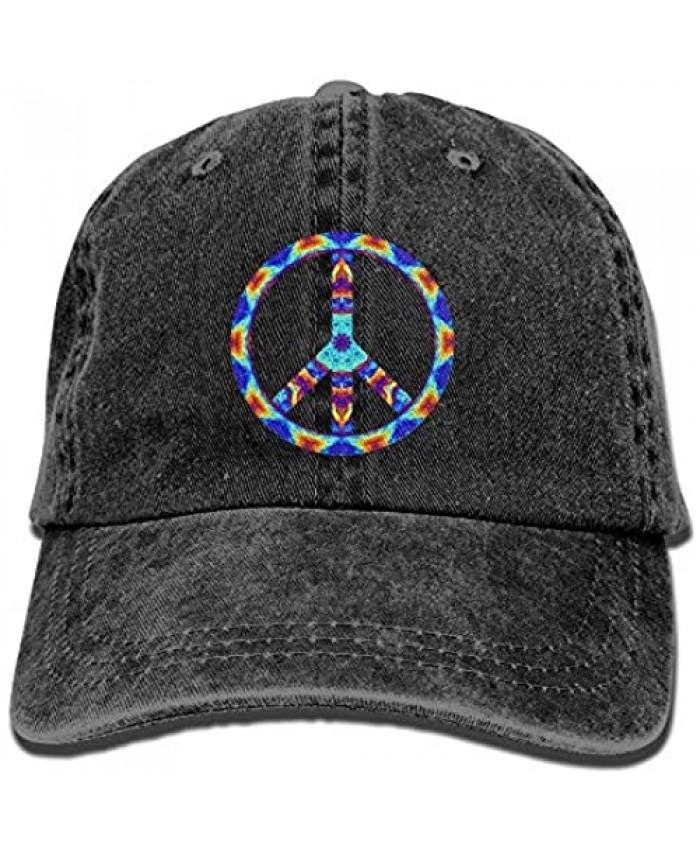 ~ Cowboy Hat Cap for Men Women Psychedelic Peace Sign