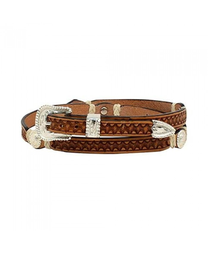 Western Stamp Rawhide Concho Hat Band
