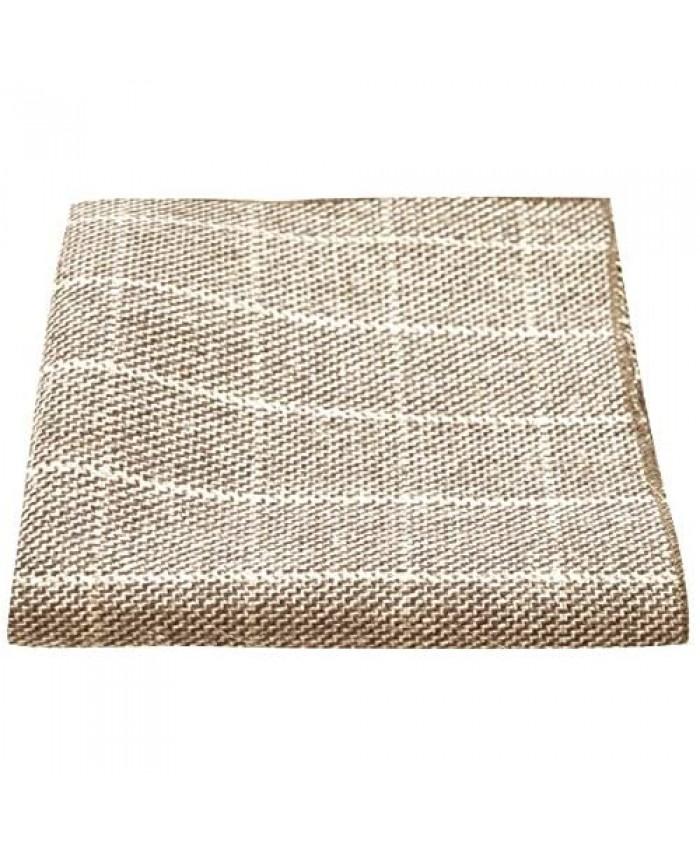 Beige Birdseye Check Pocket Square Handkerchief