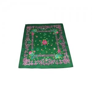 Celtic Rose Green Floral Silk Pocket Square