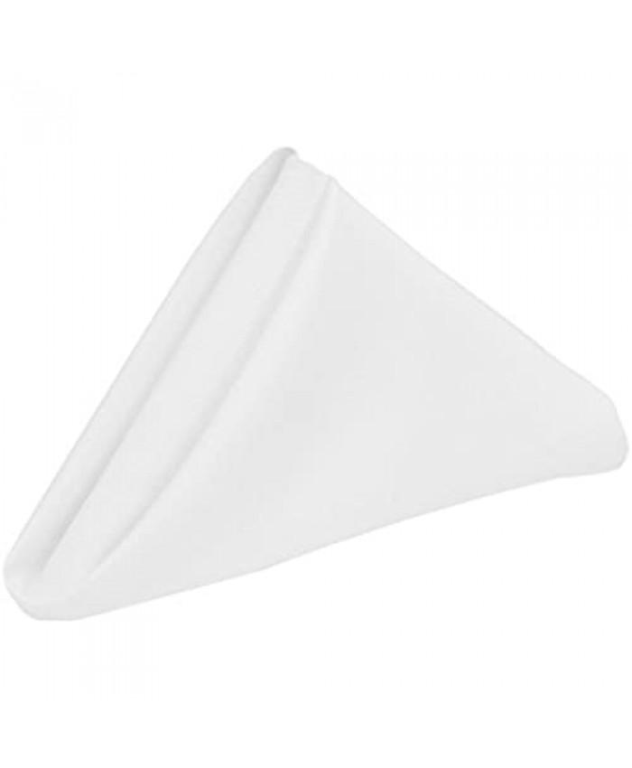 Cloth Napkins Pack of 10 (12 x 12) Pure Cotton Napkins - Durable Linen Napkin - Soft and Comfortable Napkins -Perfect Table Napkins/Cotton Dinner Napkins/Cocktail Napkins for Home Use (White)
