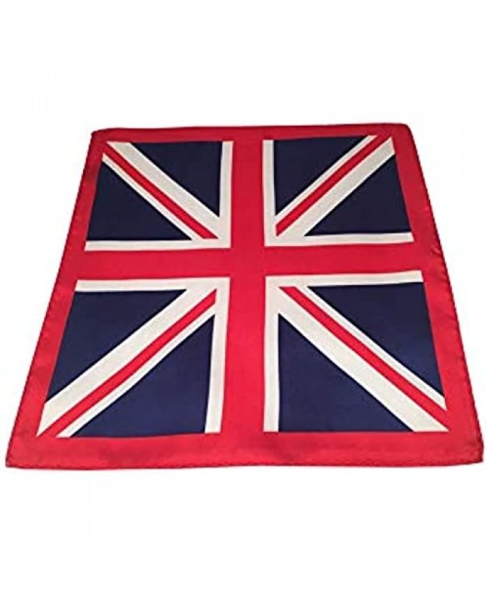 D&L Menswear Union Jack British Flag Silk Pocket Square