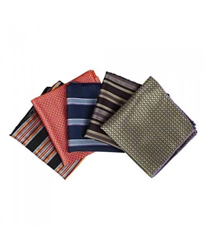 Dan Smith Men's Fashion Microfiber Handkerchief Set Patterned Multicolored With Box