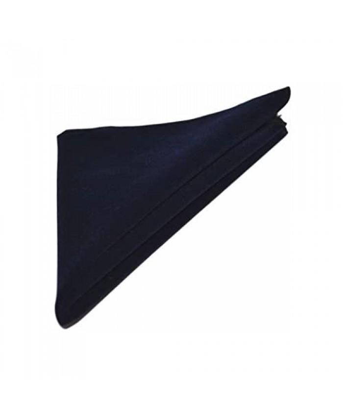 Luxury Navy Blue Velvet Pocket Square Handkerchief