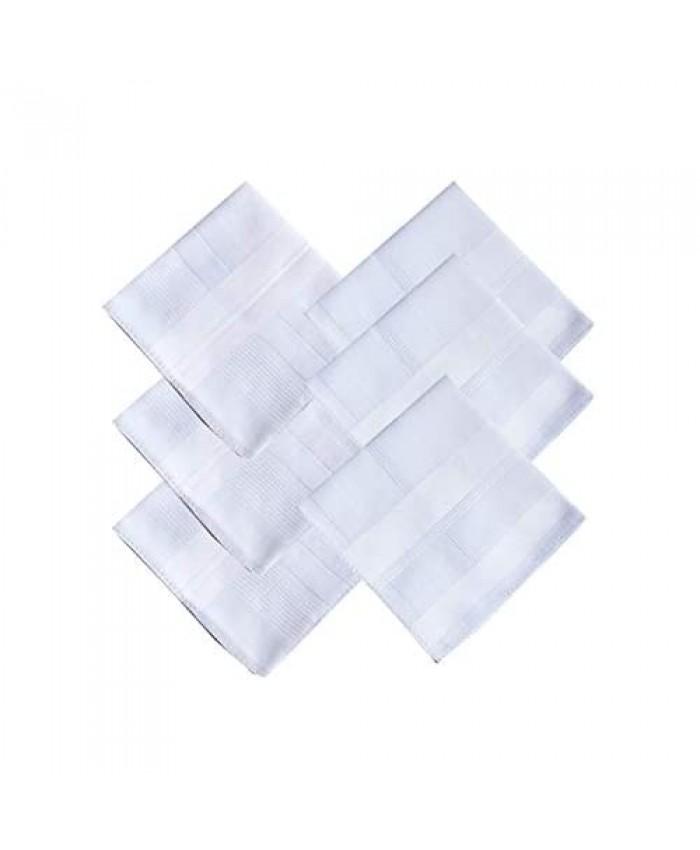 Men's Cotton Handkerchiefs White Large 17/43cm Hanky Hankies