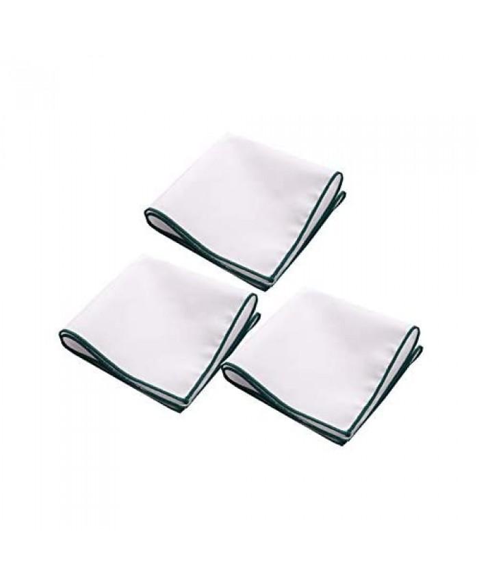 Mens White Cotton Pocket Square For Suit Tuxedo Handkerchief Hanky