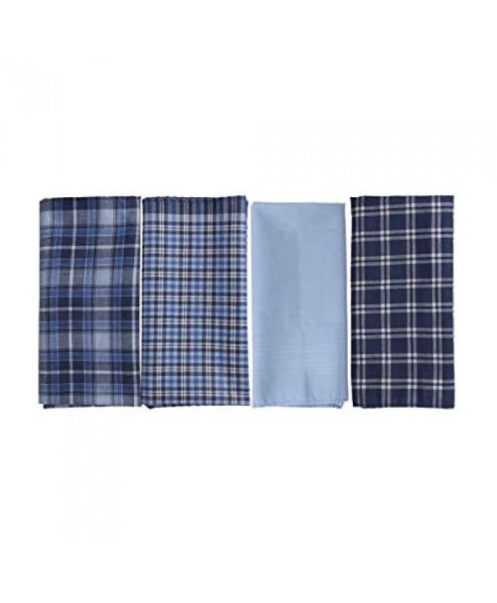 Multi-Color Flower Man Hankie 38 Cm 100% Pure Cotton Handkerchiefs YEB0108 Y&G Dark Blue Light Sky Blue
