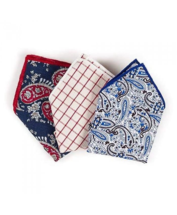 Pocket Square Handkerchief Hanky For Elegant Men Suit Tuxedo Wedding Party 3 PCS