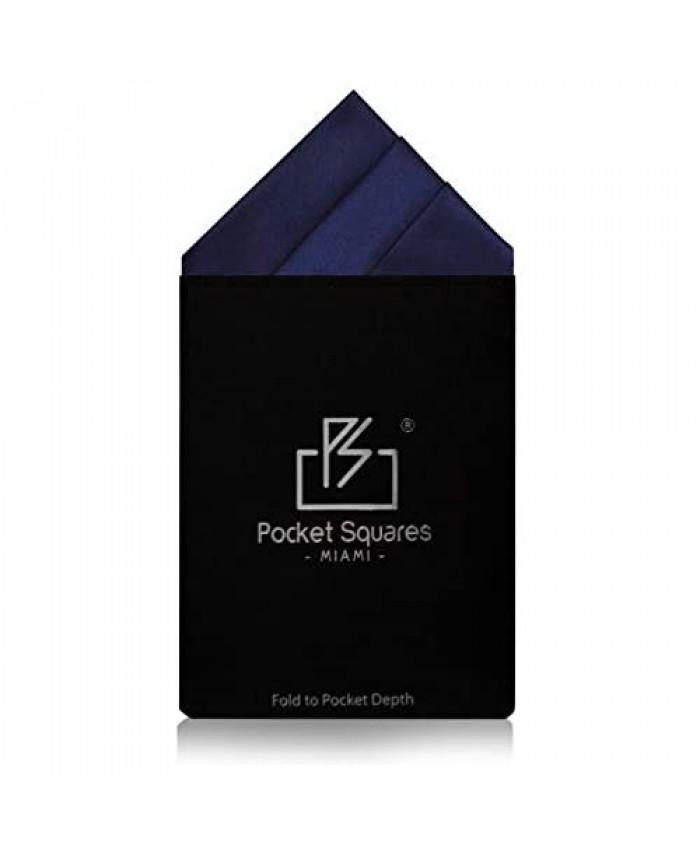 Pocket Squares Miami Men's Prefolded Satin Canary Wharf Collection