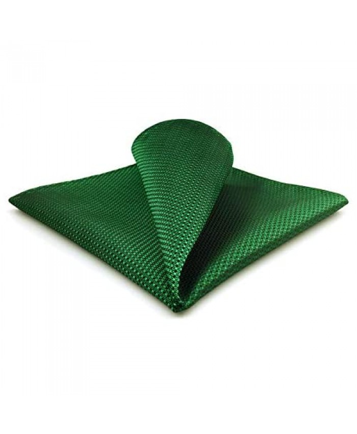 S&W SHLAX&WING Pocket Square for Men Solid Green Classic for Suit Handkerchief