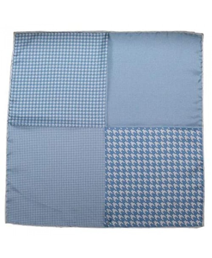 The Tie Bar Houndstooth Panel 100% Woven Silk Pocket Square