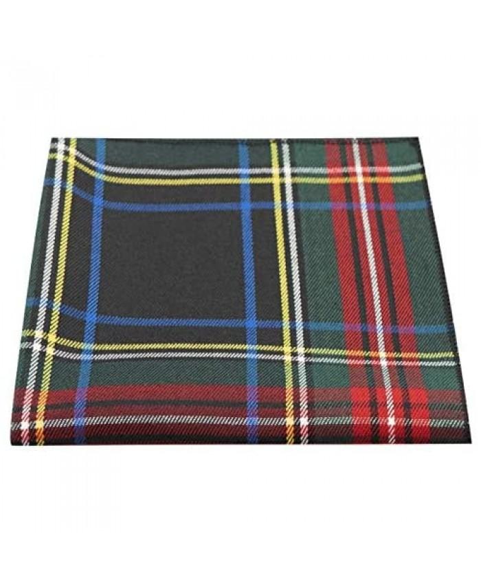 Traditional Dark Green & Black Tartan Pocket Square Handkerchief Check Plaid