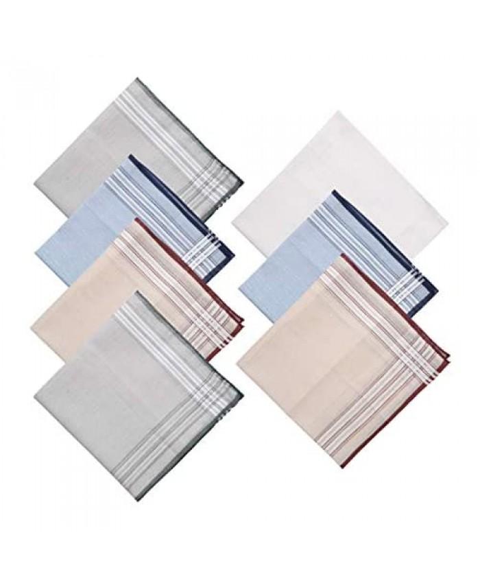Y&G Men's Fashion Handmade Fabric Mens 7 Pack Handkerchiefs Set Evening Presents