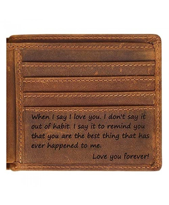 Engraved Personalized Wallet For Men - Gift For Boyfriend Husband
