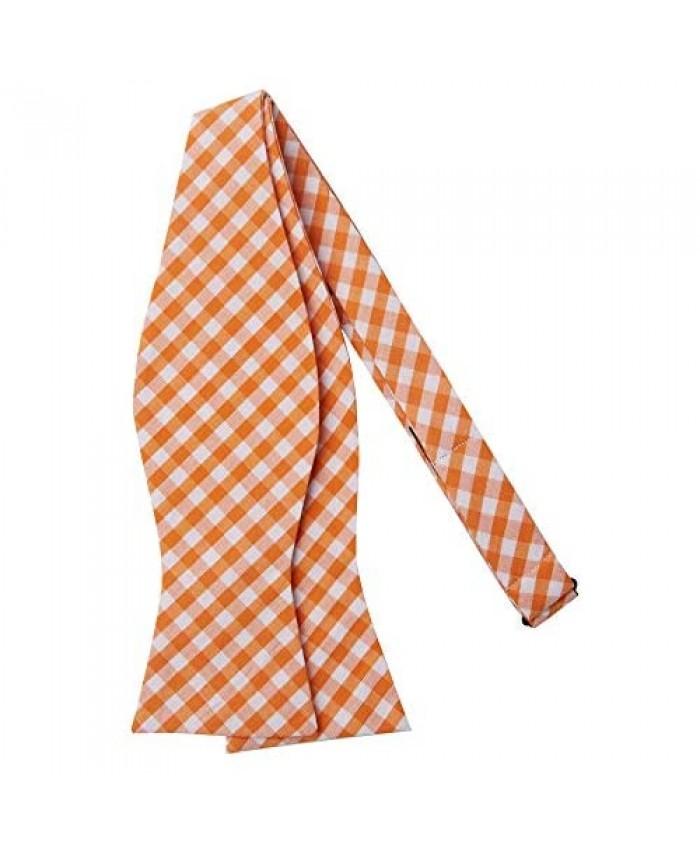 Jacob Alexander Men's Gingham Checkered Pattern Self-Tie Bow Tie