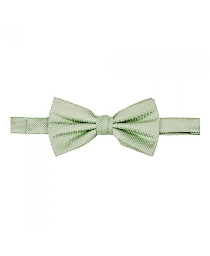 Jacob Alexander Men's Woven Subtle Mini Squares Adjustable Pre-Tied Banded Bow Tie